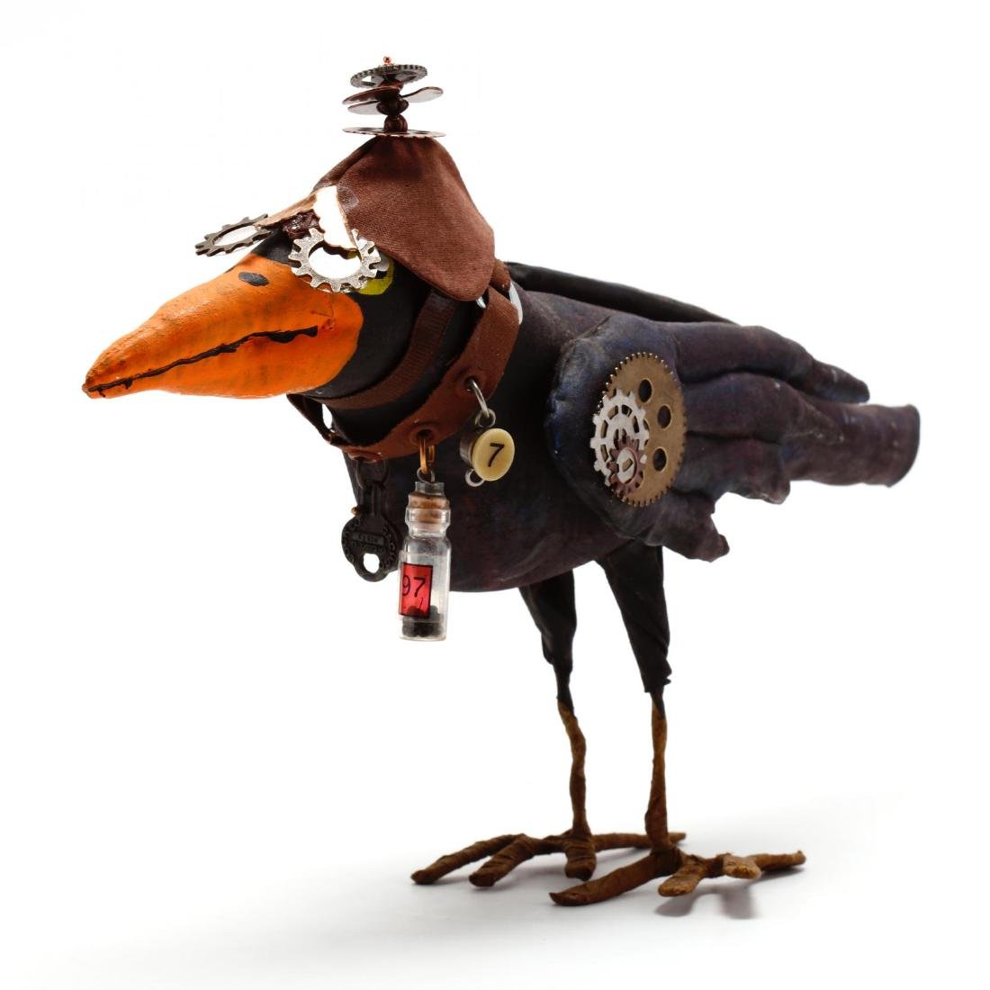 Folk Art Steampunk Raven