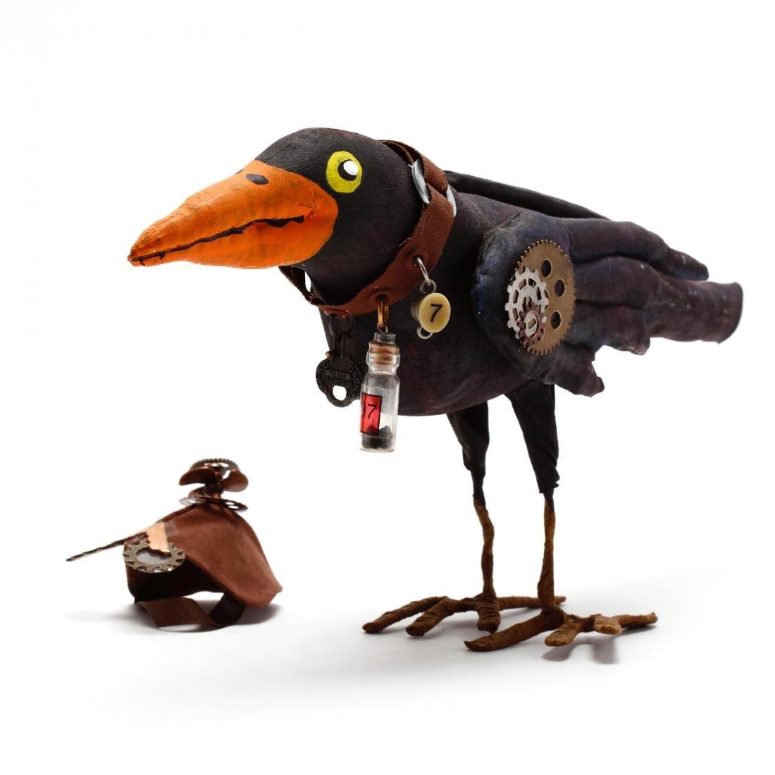 Folk Art Steampunk Raven - 2