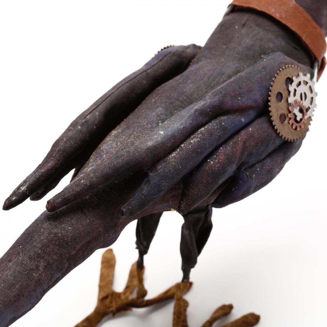 Folk Art Steampunk Raven - 4