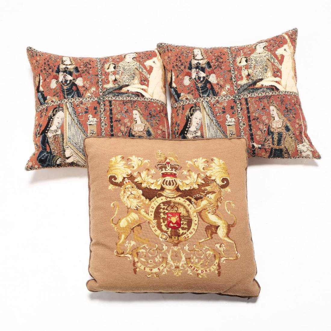 Three Elizabethan Style Pillows