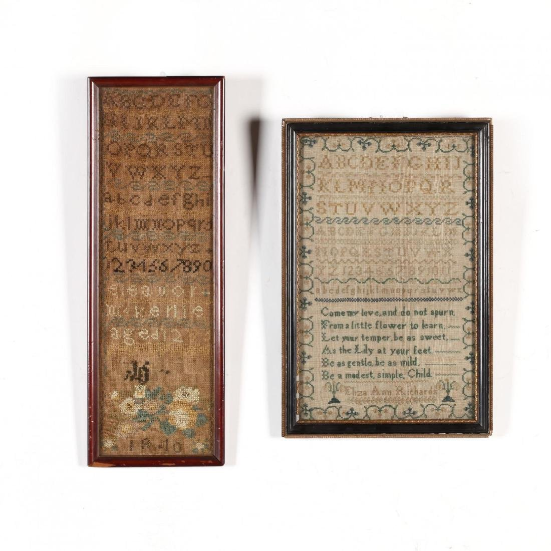 Two Antique Framed Samplers