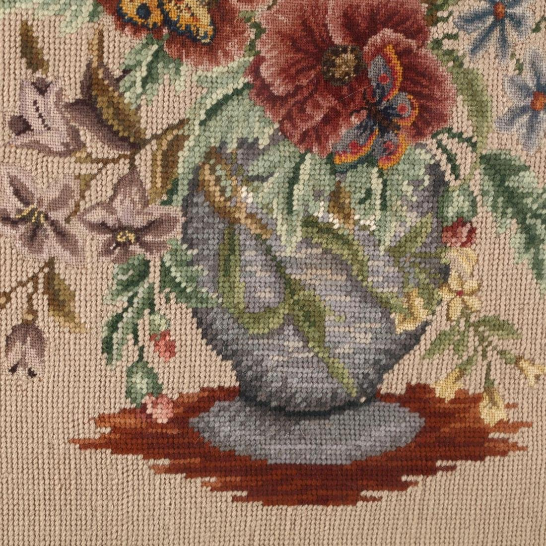 A Vintage Needlework Still Life of Flowers - 2