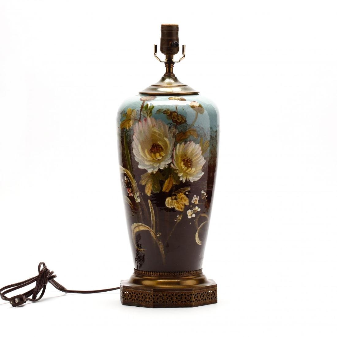 Vintage Art Pottery Lamp
