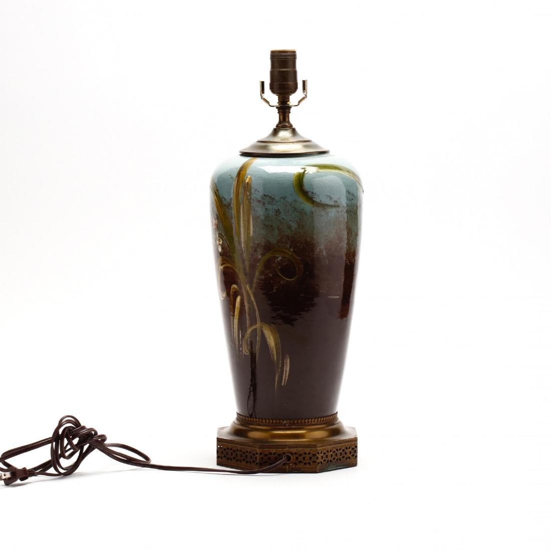 Vintage Art Pottery Lamp - 2