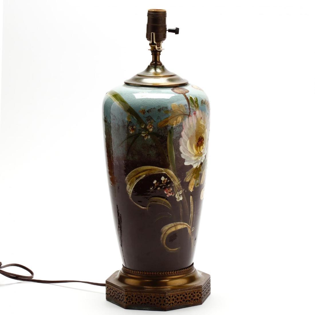 Vintage Art Pottery Lamp - 3