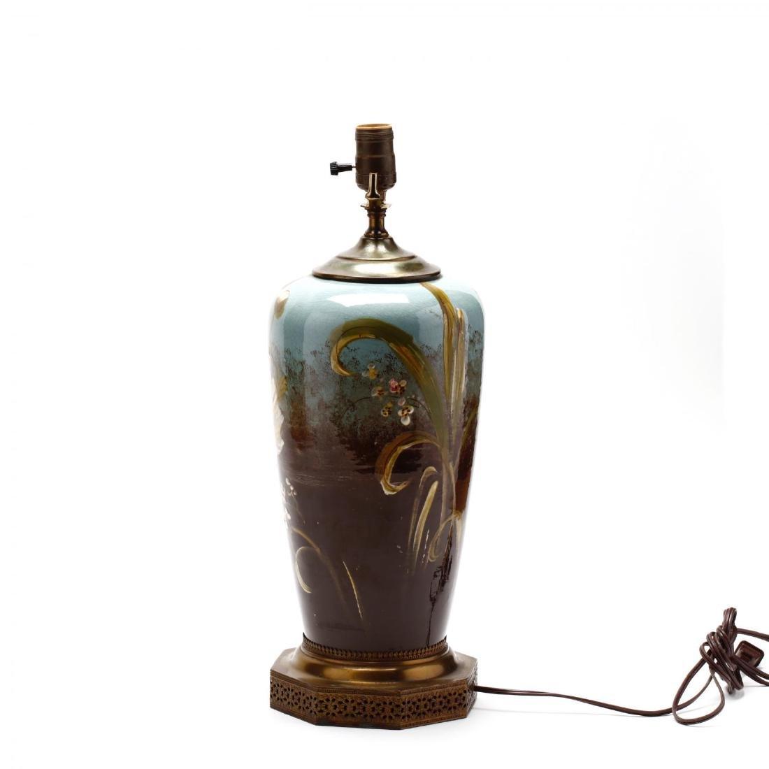 Vintage Art Pottery Lamp - 5