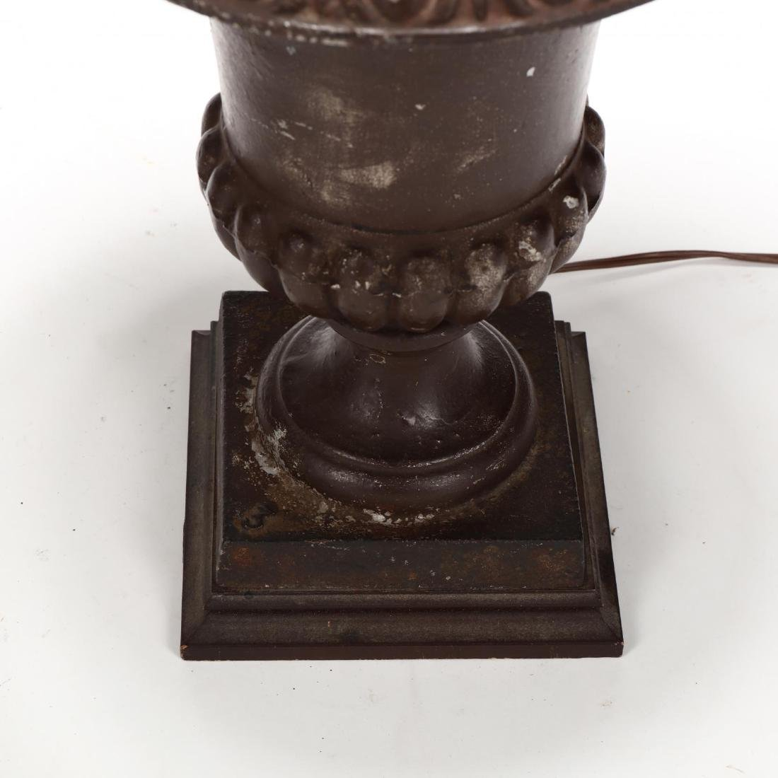 Pair of Iron Urn Form Table Lamps - 2