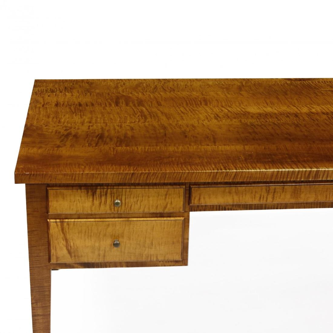 Barton Sharpe, Custom Tiger Maple Executive Desk and - 4