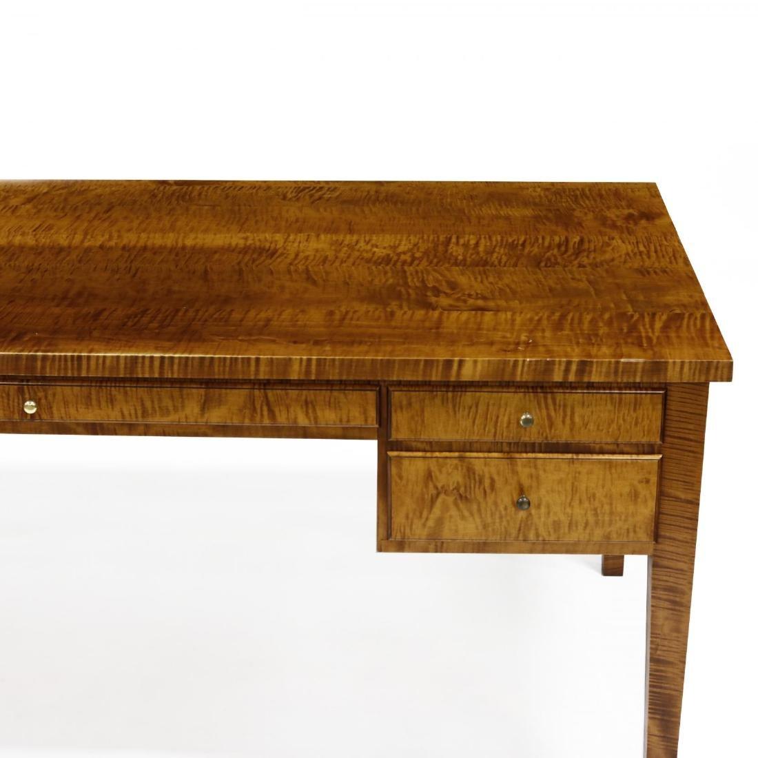 Barton Sharpe, Custom Tiger Maple Executive Desk and - 5