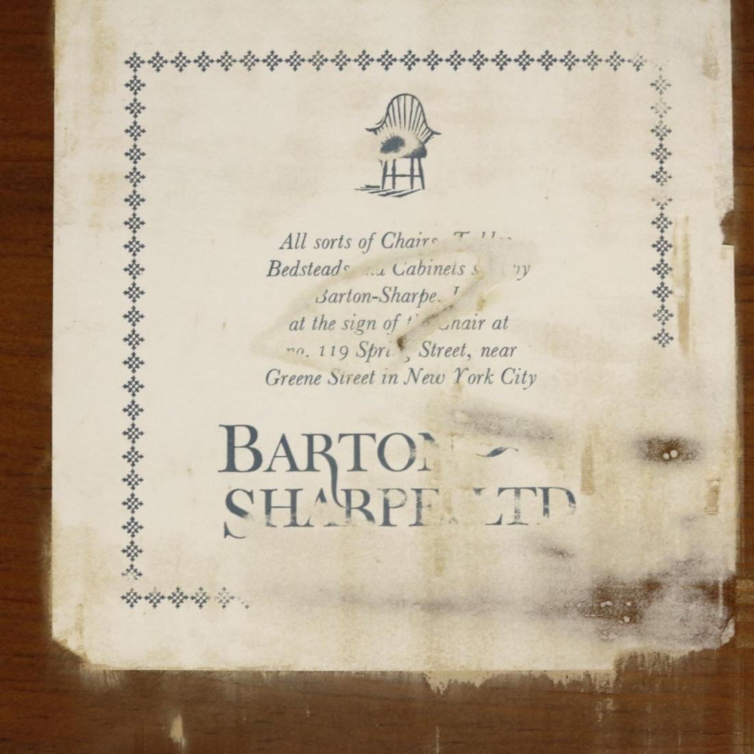 Barton Sharpe, Custom Tiger Maple Executive Desk and - 6