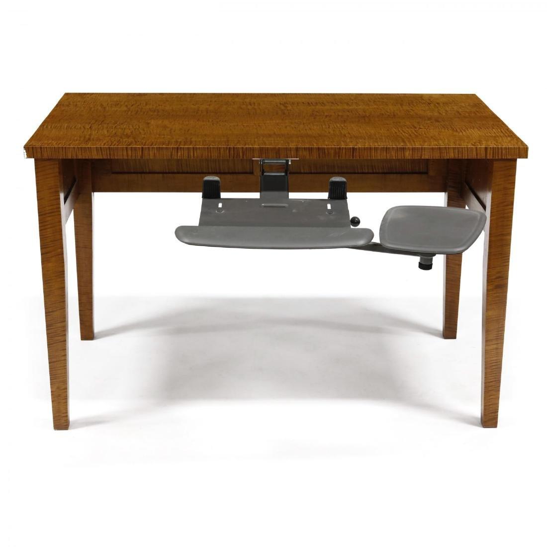 Barton Sharpe, Custom Tiger Maple Executive Desk and - 9