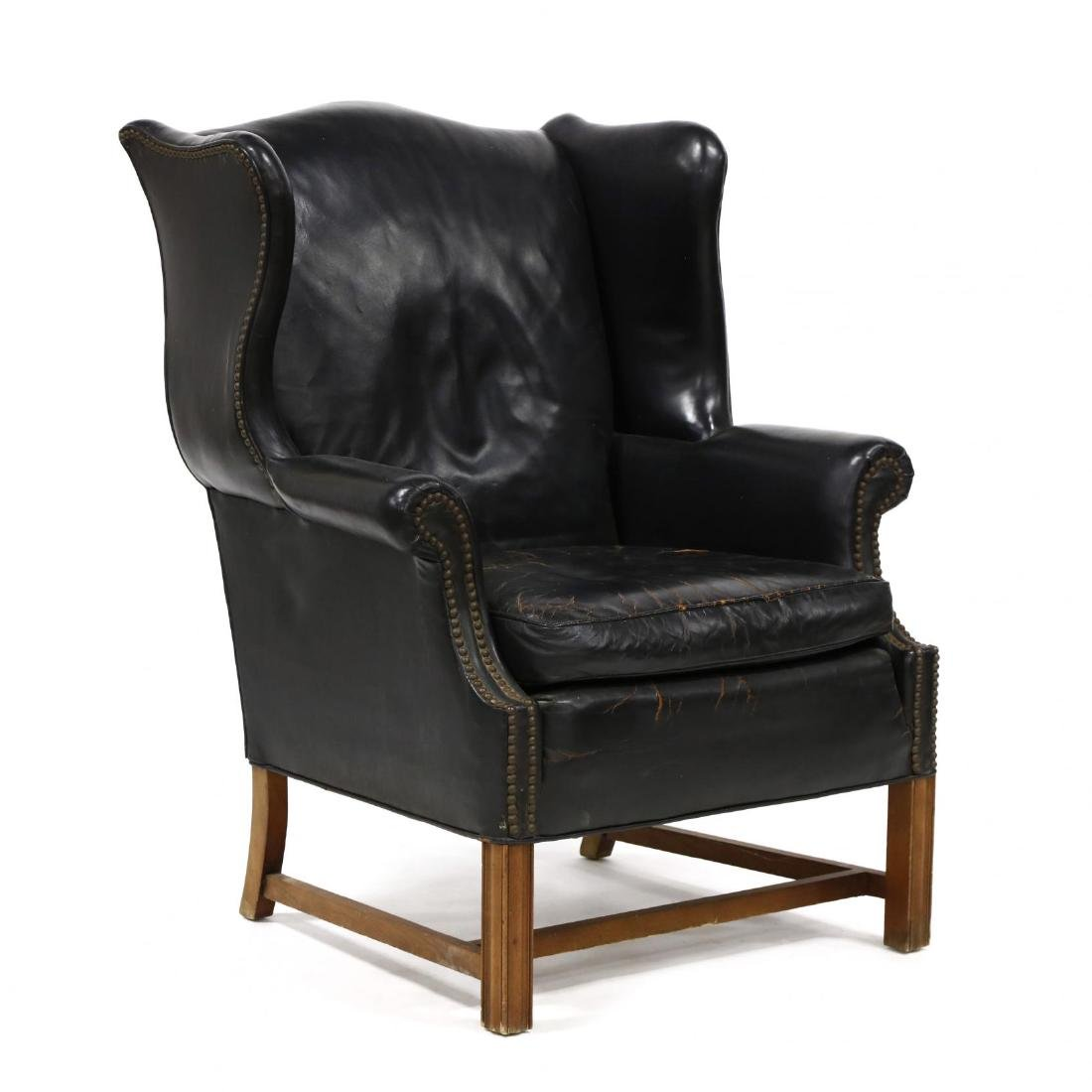 Century Furniture, Vintage Leather Upholstered