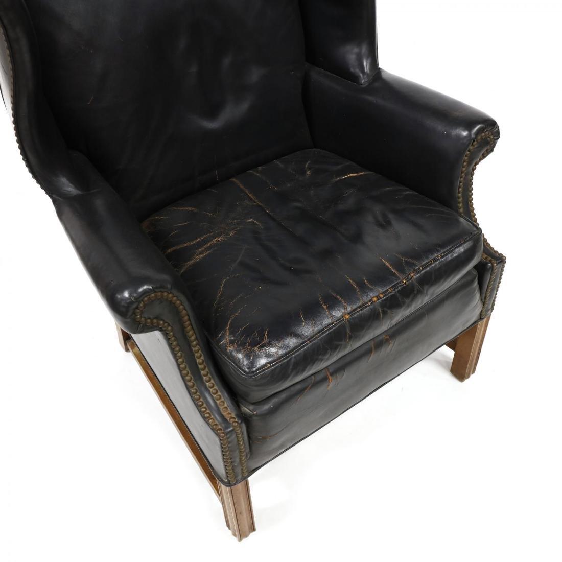Century Furniture, Vintage Leather Upholstered - 2