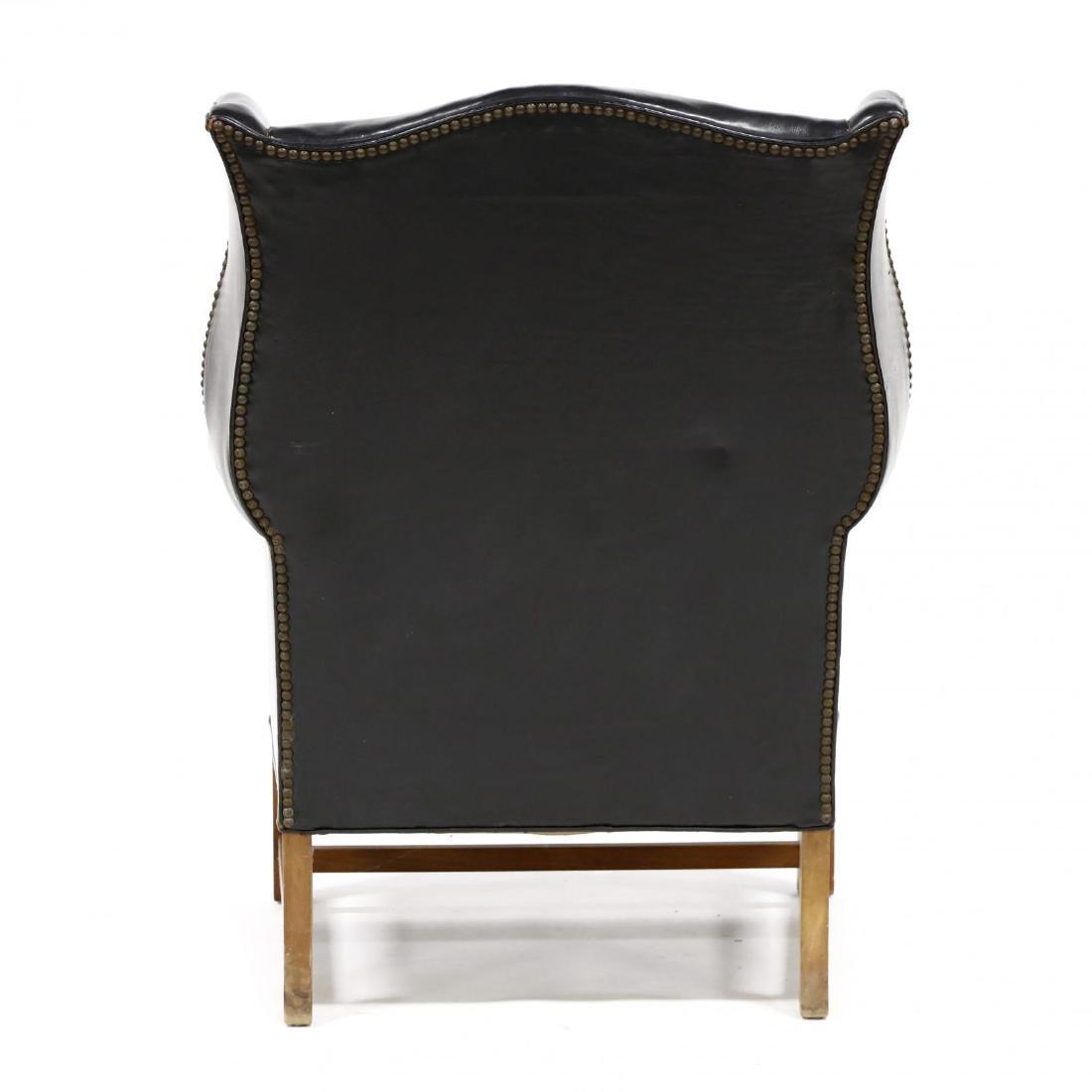 Century Furniture, Vintage Leather Upholstered - 4