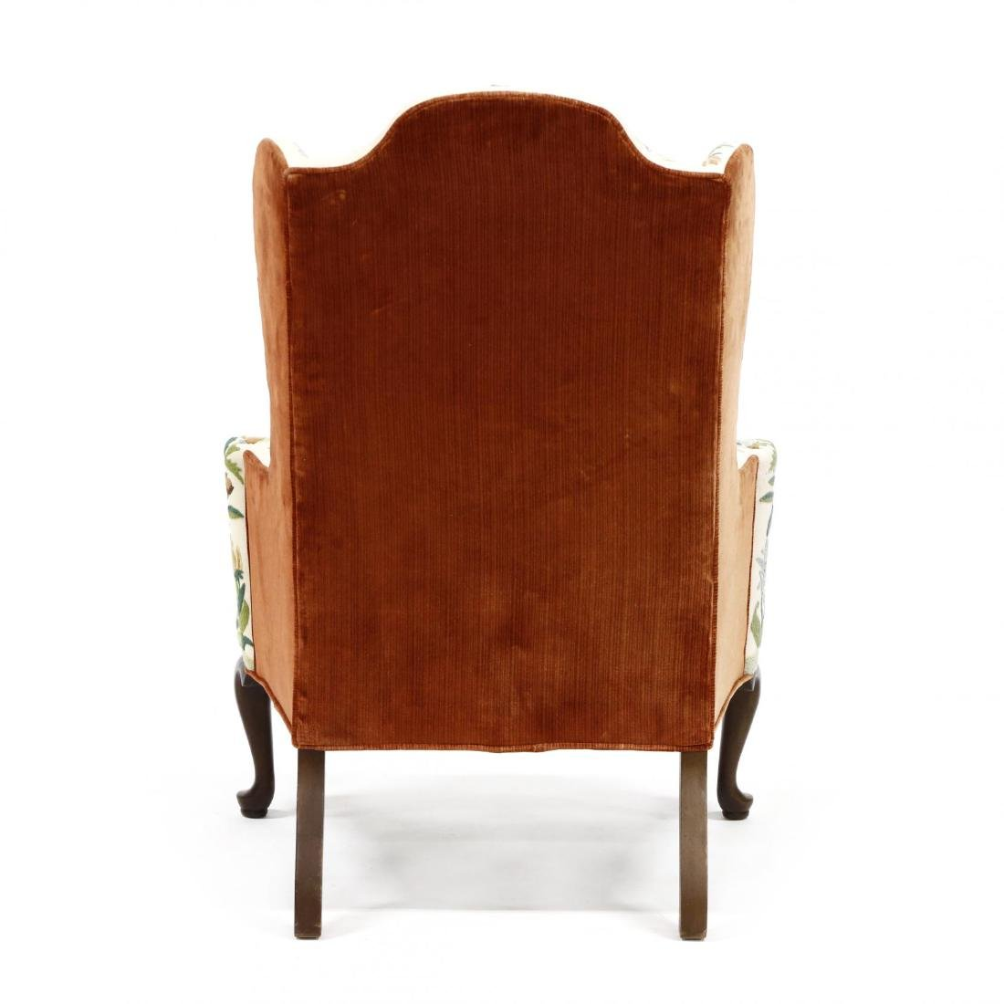 Woodmark Originals, Pair of Crewelwork Upholstered Wing - 2