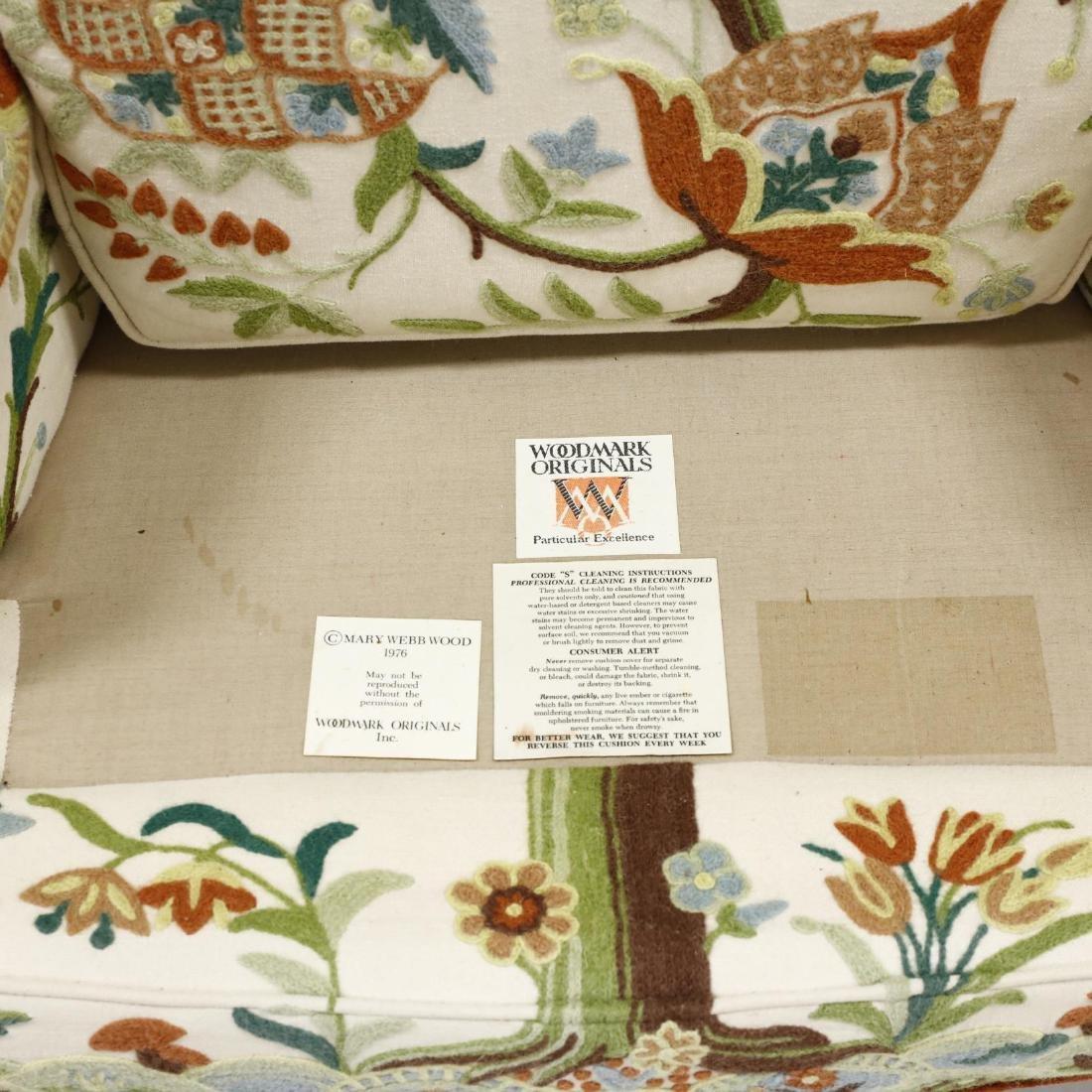 Woodmark Originals, Pair of Crewelwork Upholstered Wing - 3
