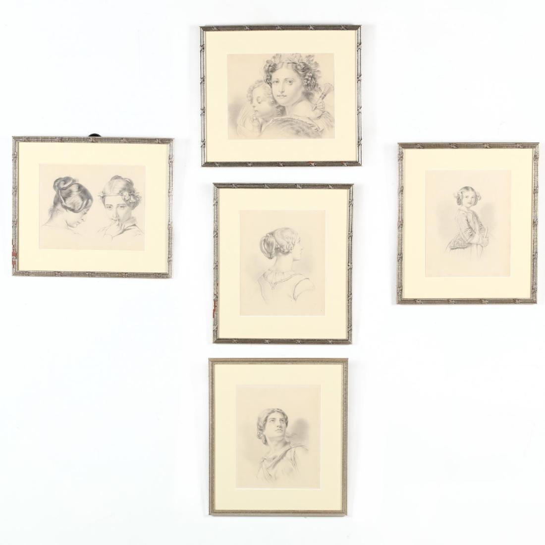 Peter Calvi, Jr. (NY, 1860-1926), Five Sketches of