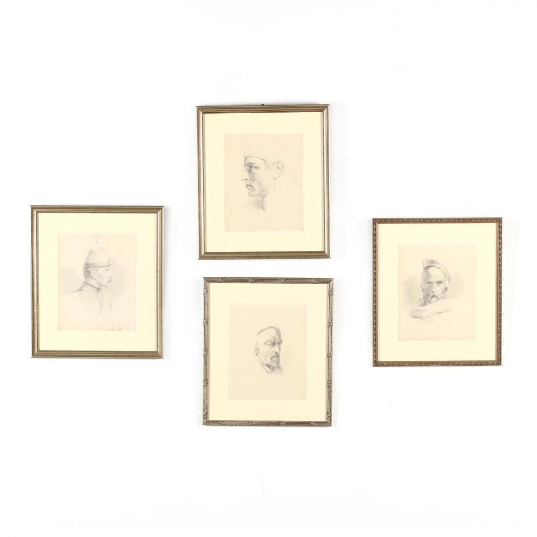 Peter Calvi, Jr. (NY, 1860-1926), Four Character
