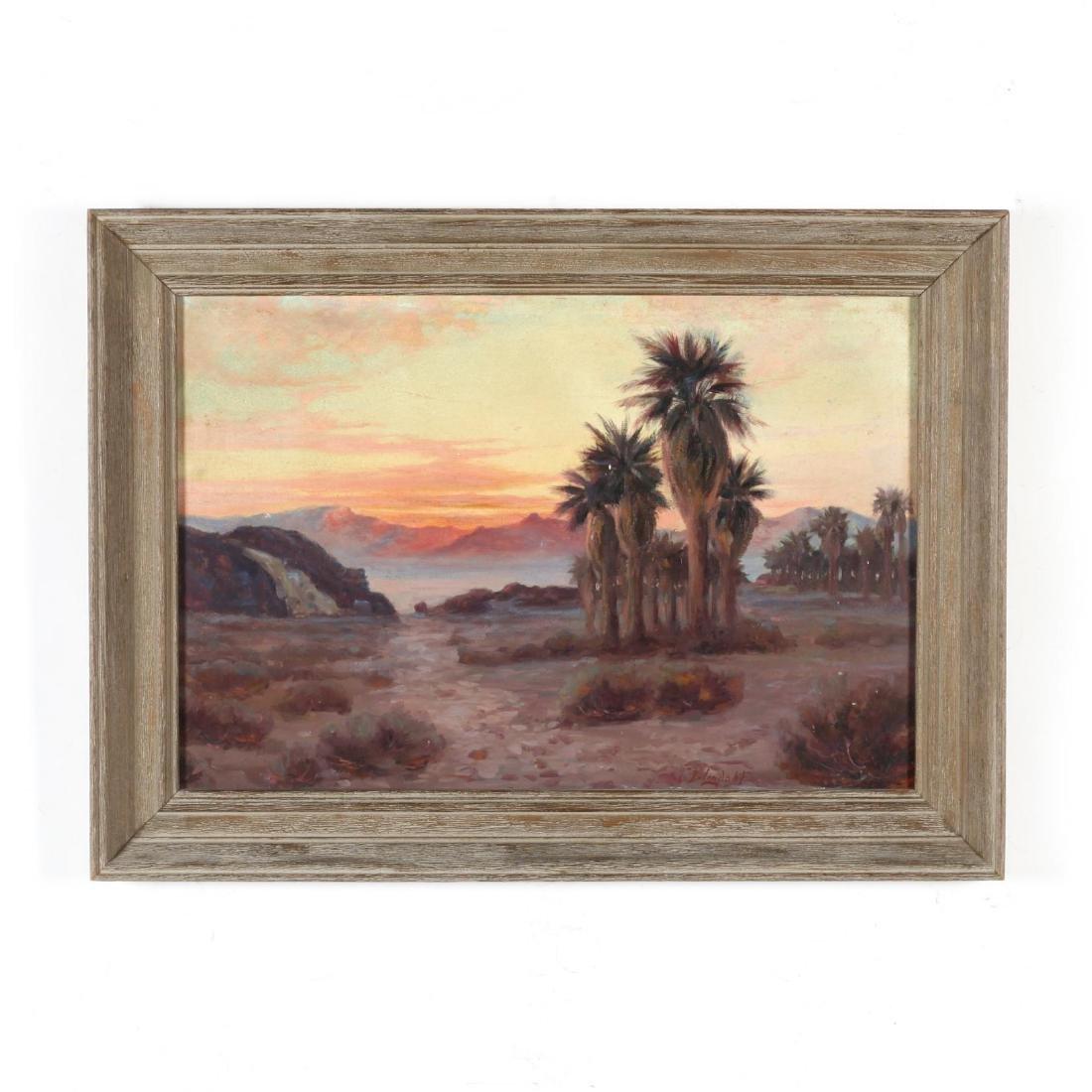 Joseph Lindahl (CA, 1885-1961), Desert Sunset