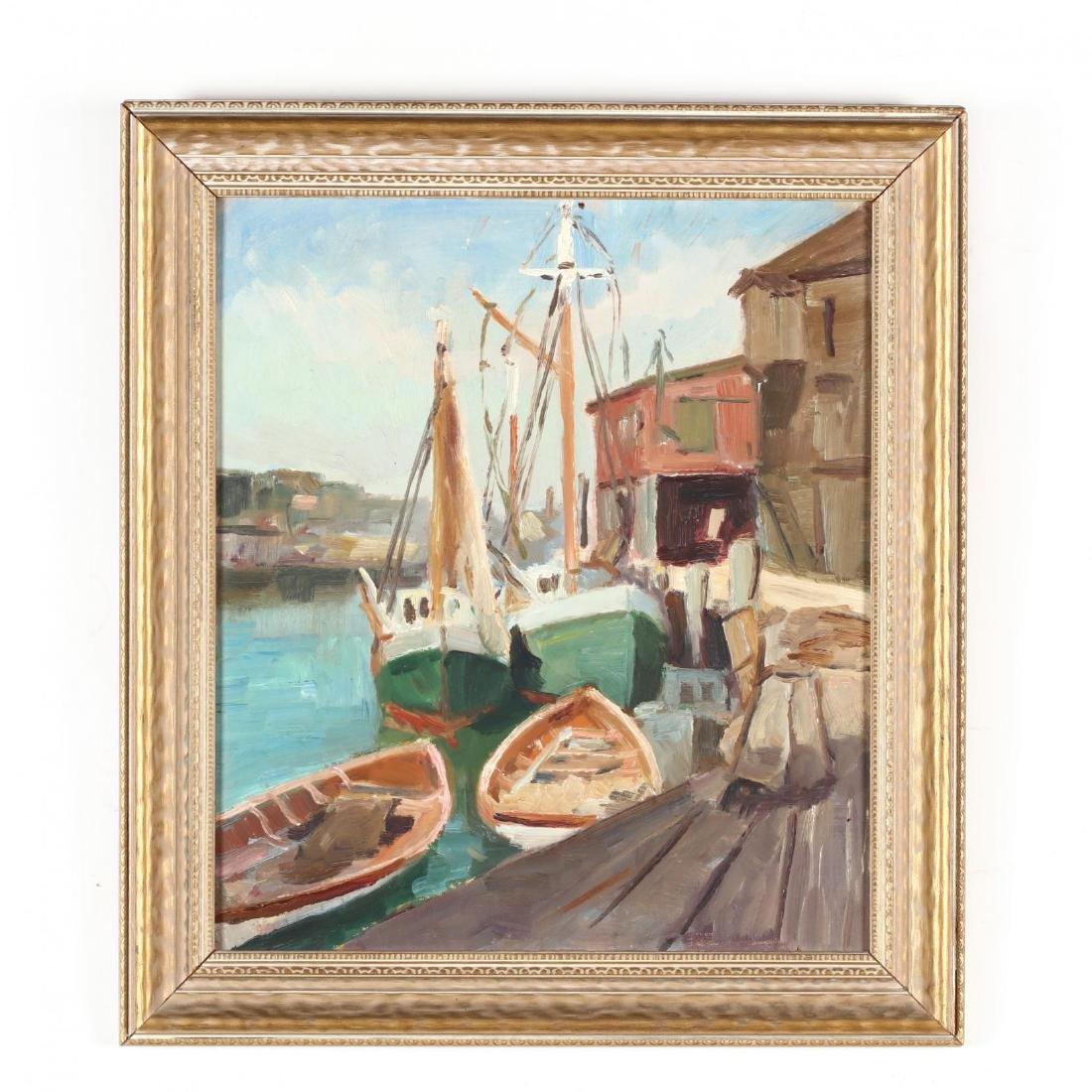 Caroline M. Bell (NY, 1874-1970), Harbor Scene