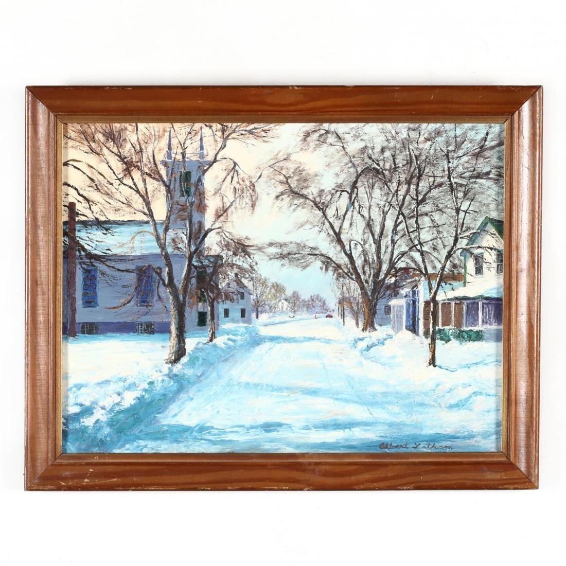 Albert Latham (NY, 1909-1976),  Village Lane, Orient