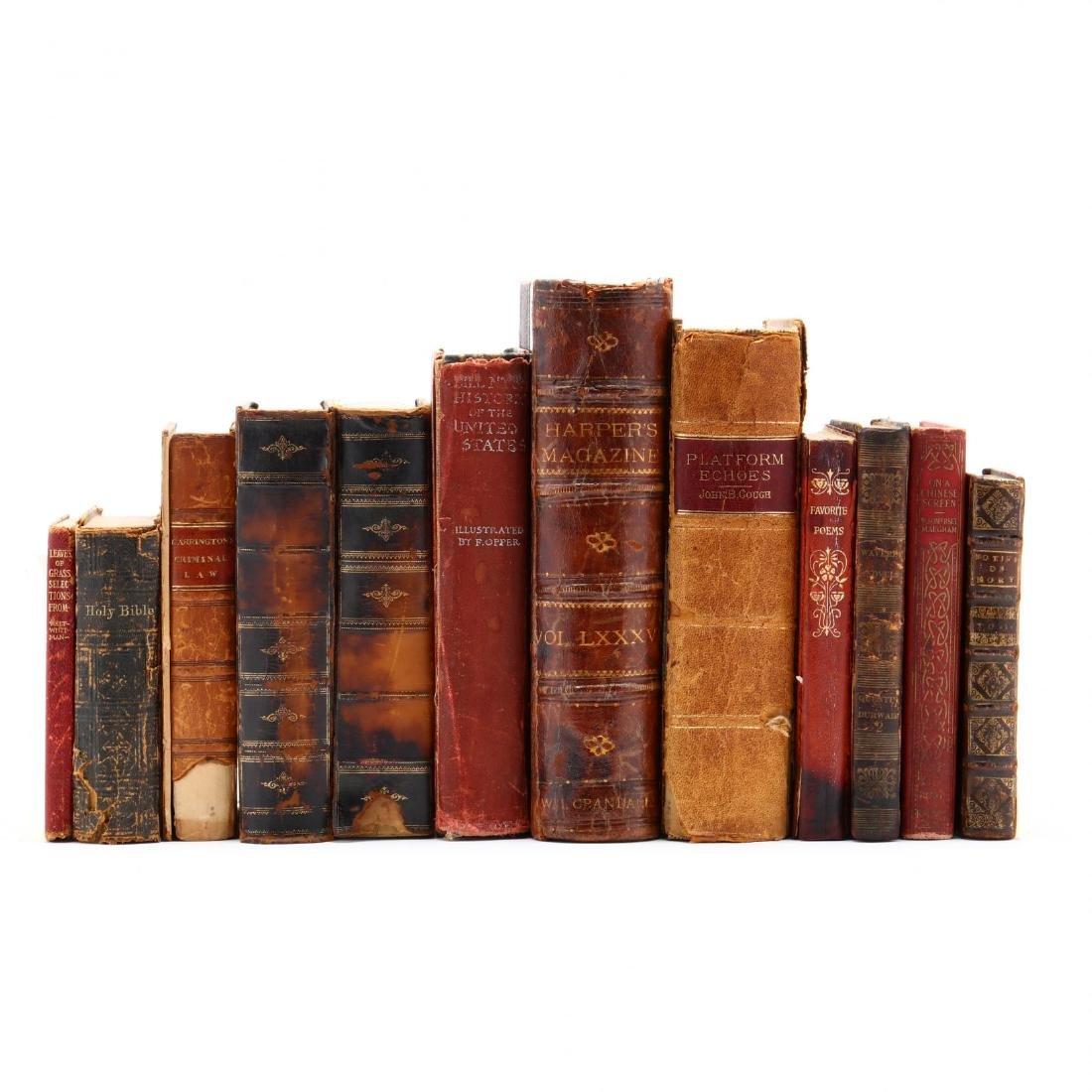 Twelve Antique Books