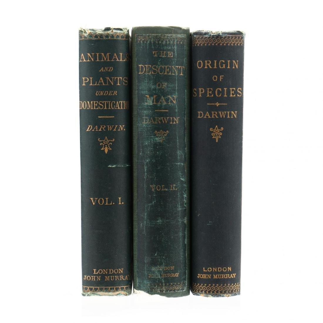 Three 19th Century Books by Charles Darwin