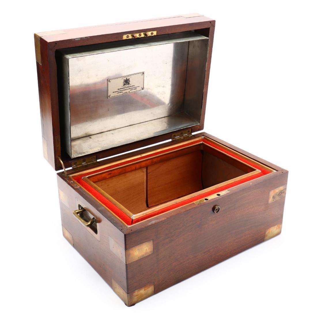 Vintage Benson & Hedges Brass Bound Humidor - 7