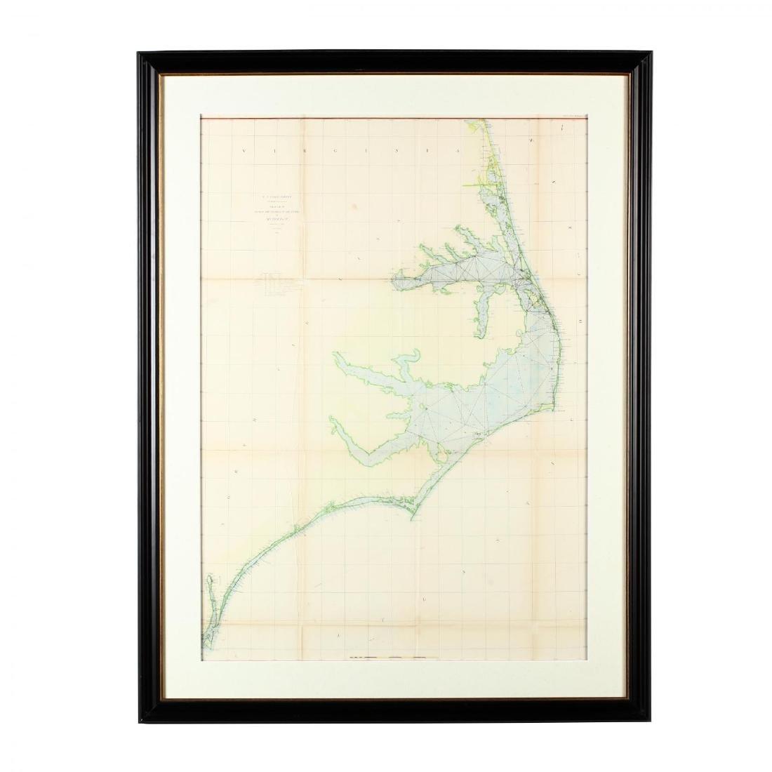 Antebellum U.S. Coast Survey Map of North Carolina