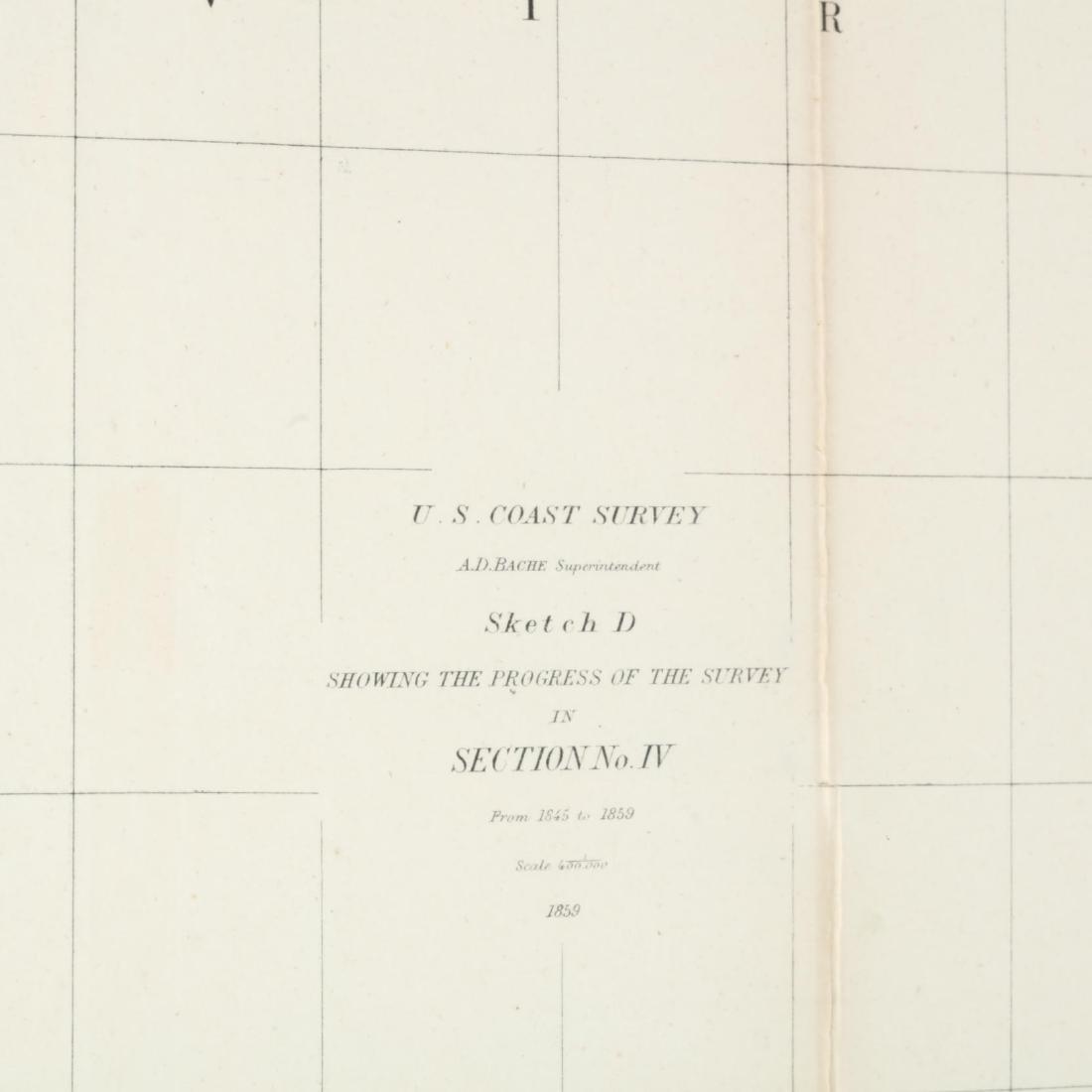 Antebellum U.S. Coast Survey Map of North Carolina - 2