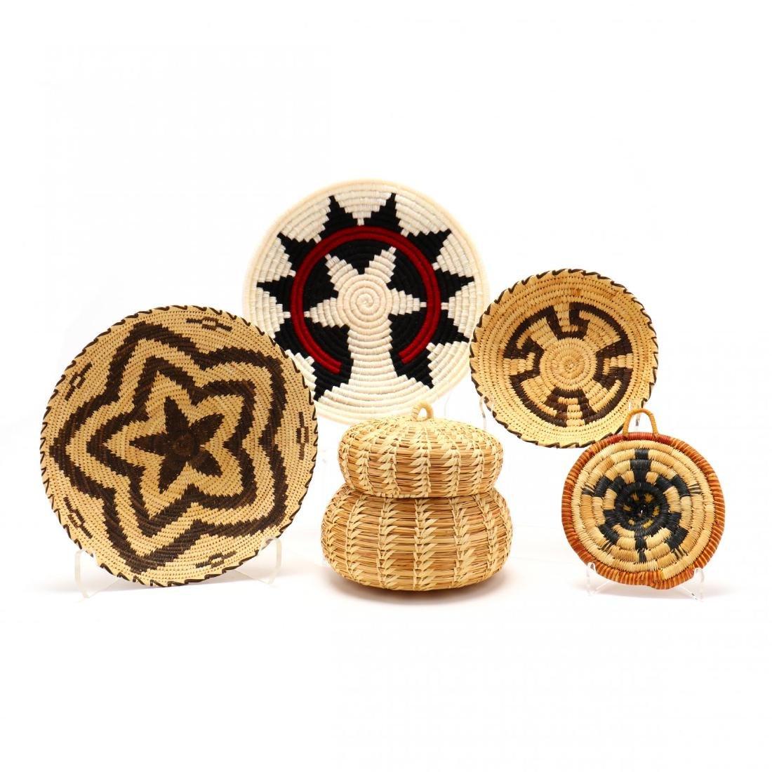 Five Native American Baskets