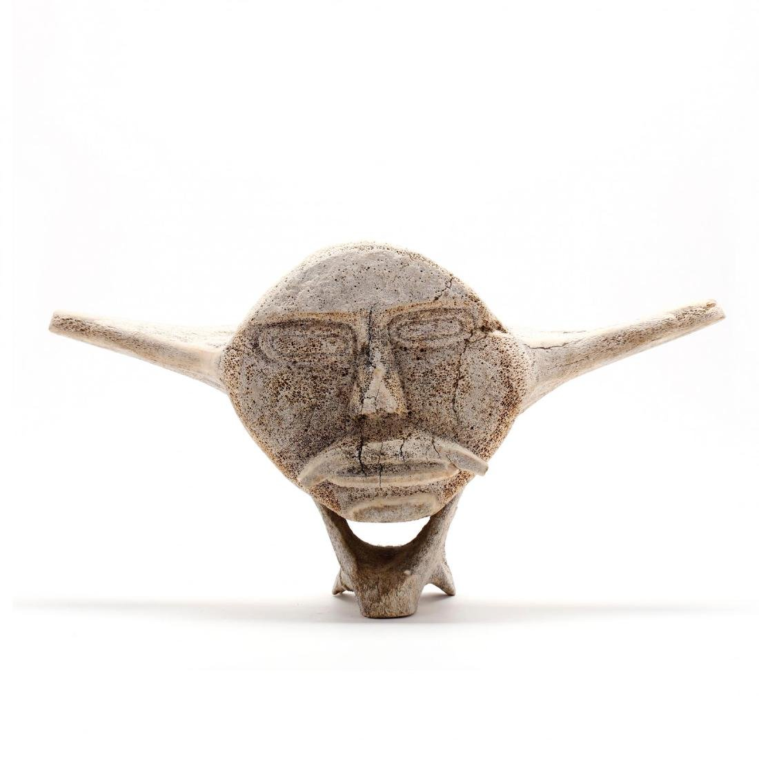 Large Inuit Carved Whale Bone Vertebrae