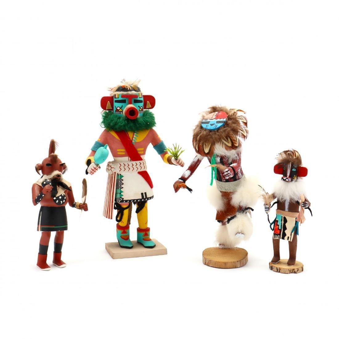 Four Hopi Katsina Dolls