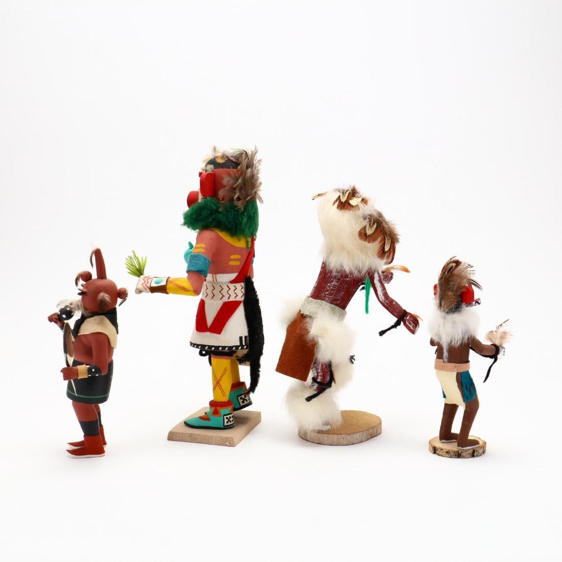 Four Hopi Katsina Dolls - 3
