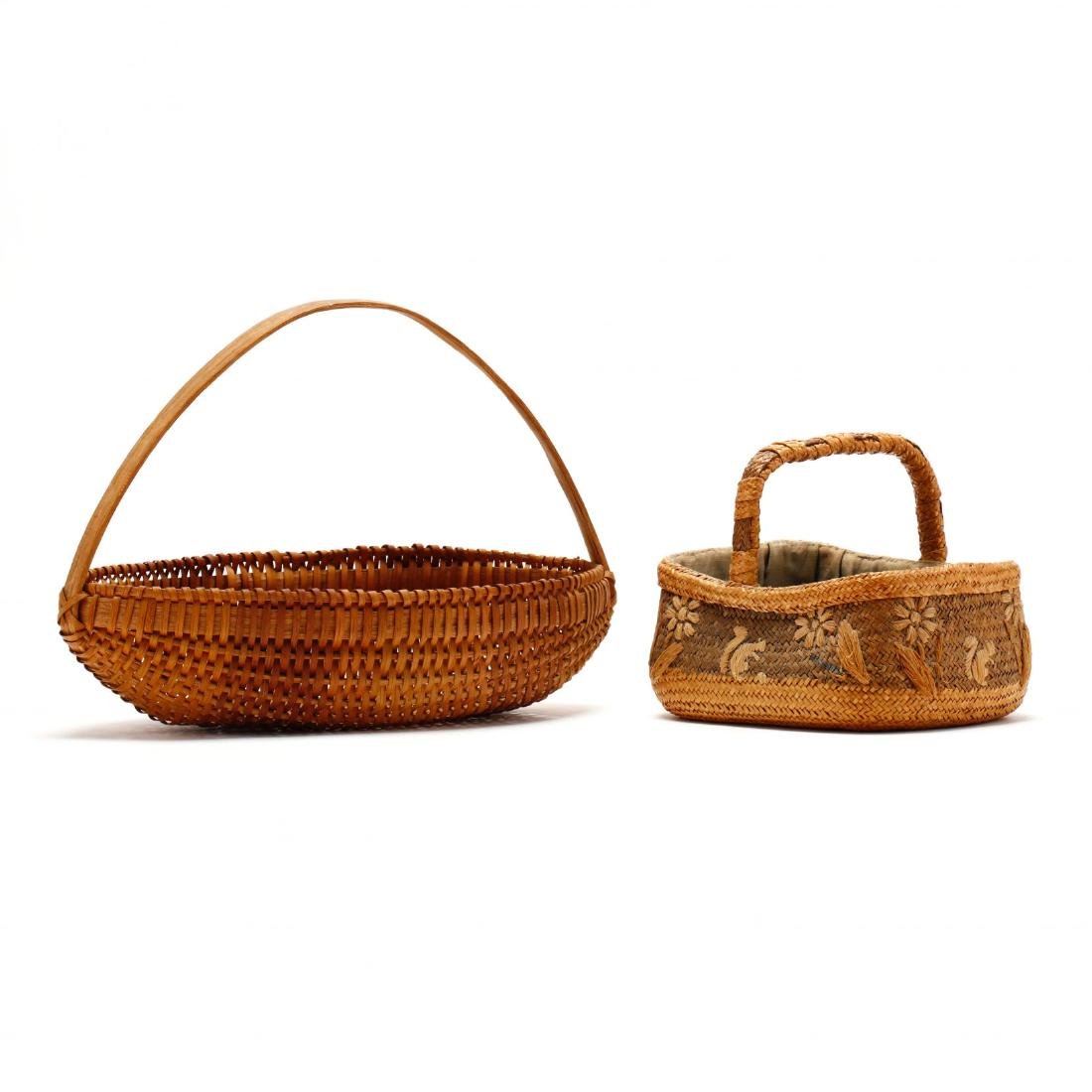 Two Vintage Native American Baskets