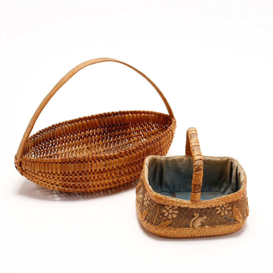 Two Vintage Native American Baskets - 8