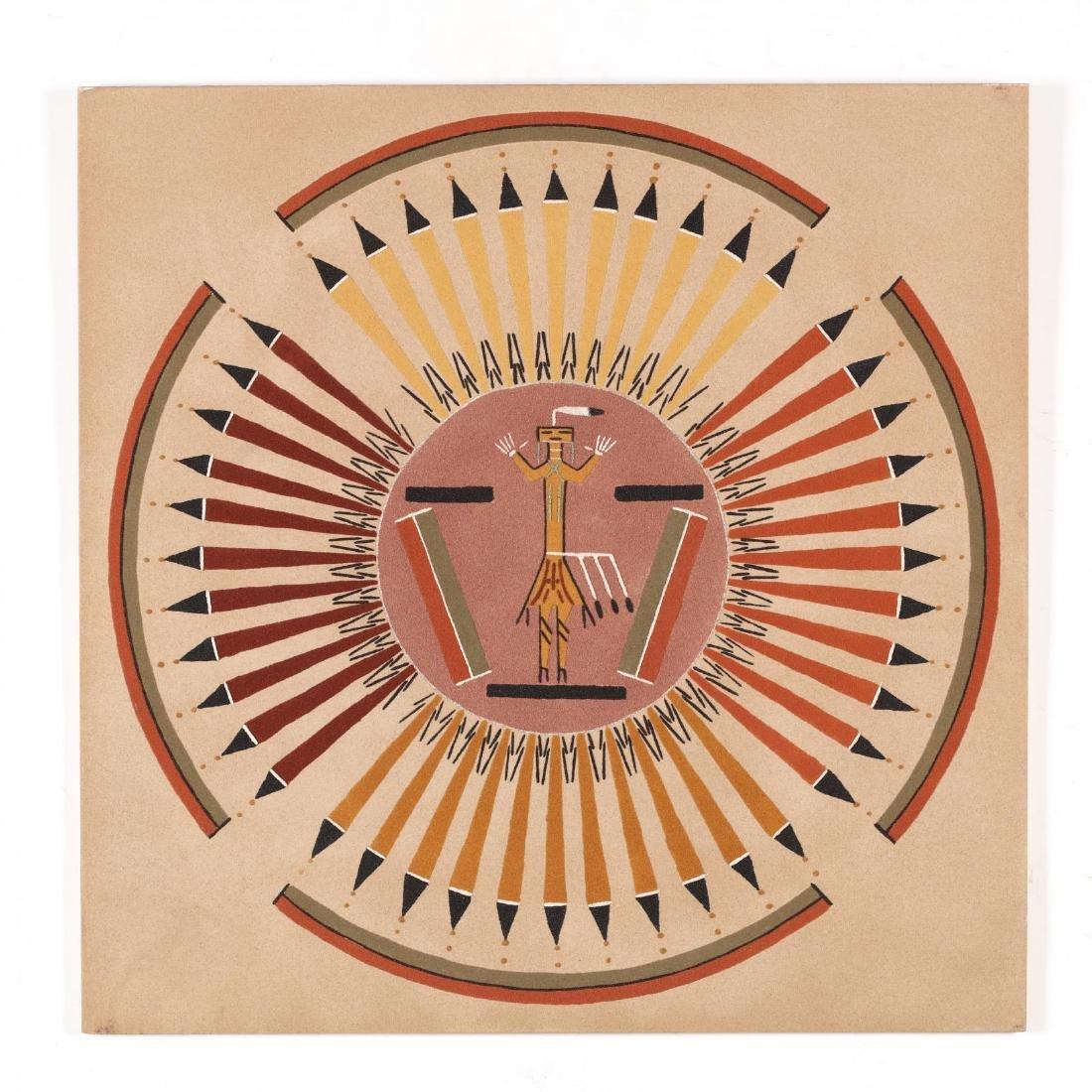 Annie Tsosie (Navajo, 20th century),  Sun and Eagle