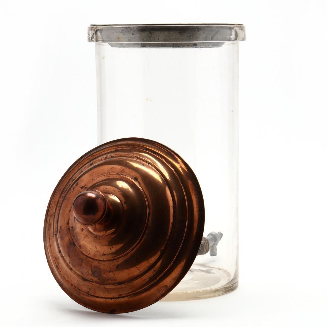 Antique Lidded Apothecary Dispenser - 2