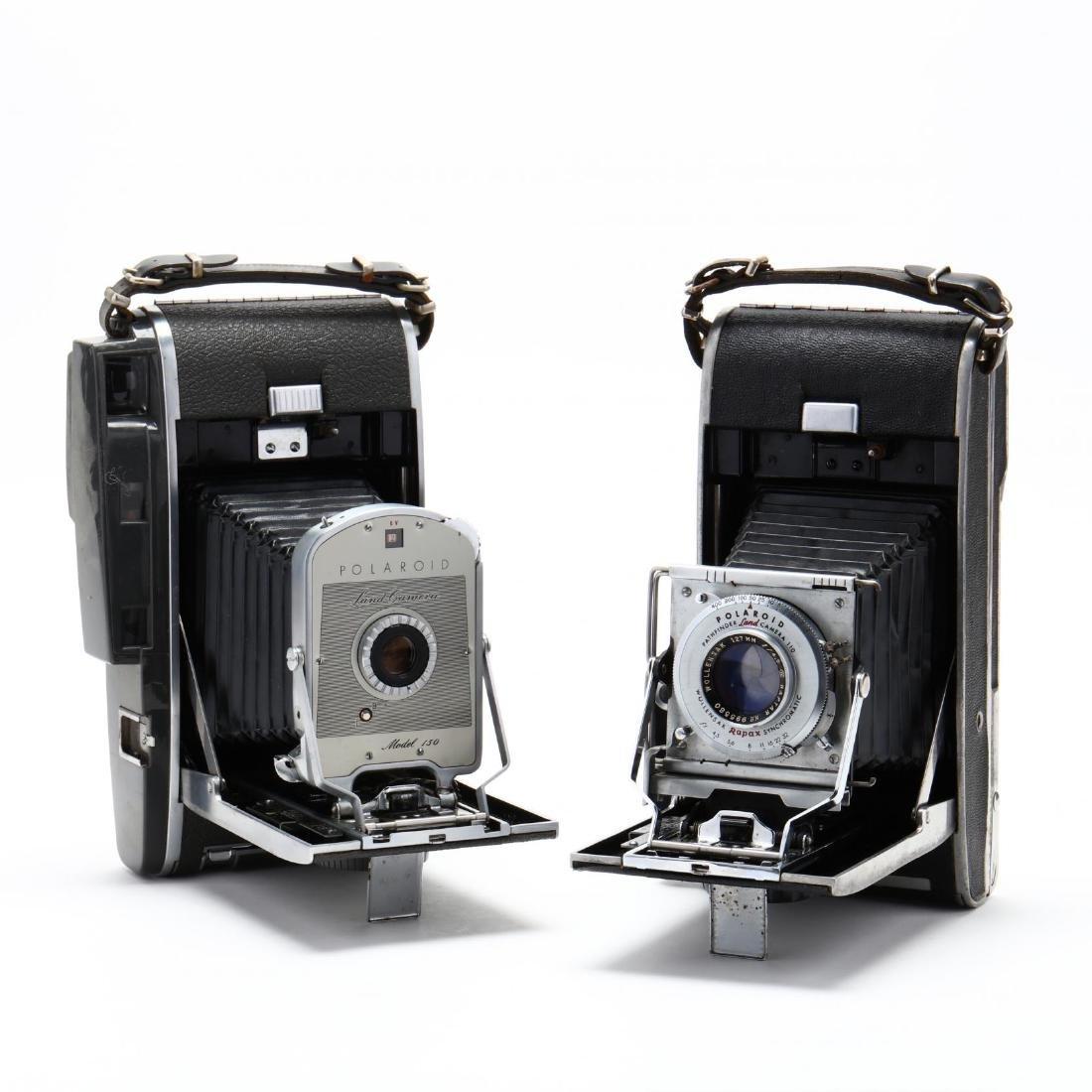 Two Vintage Polaroid Cameras