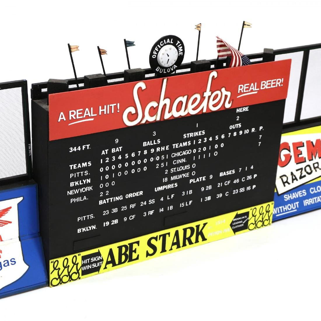 Large Model of Ebbet's Field Scoreboard - 2