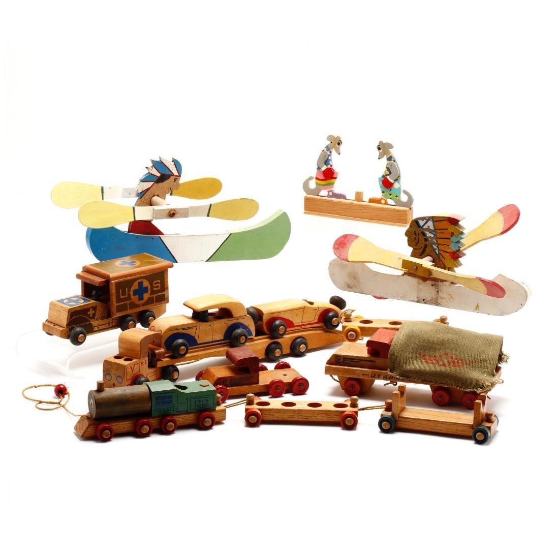 A Group of Vintage Wooden Toys - 2