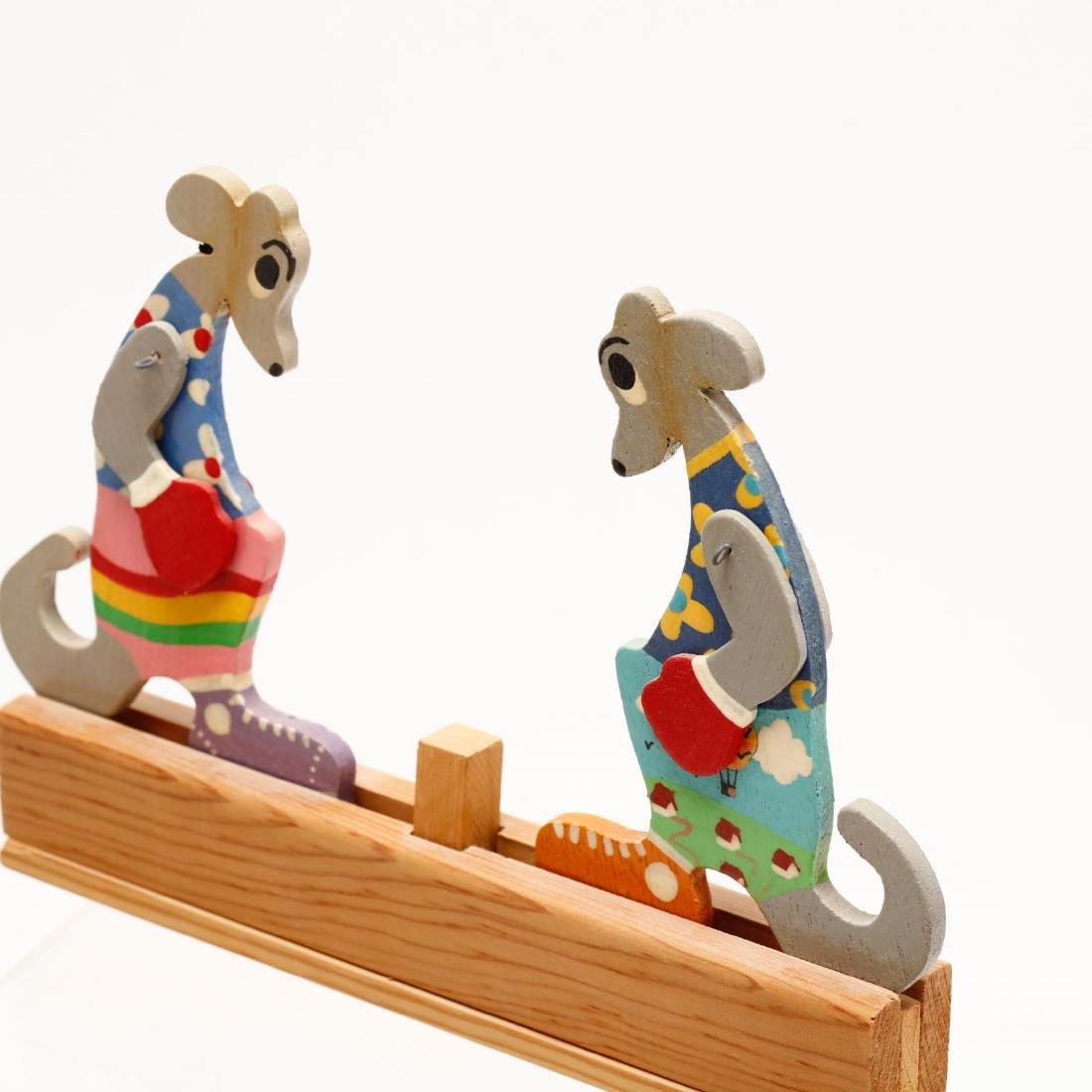 A Group of Vintage Wooden Toys - 3
