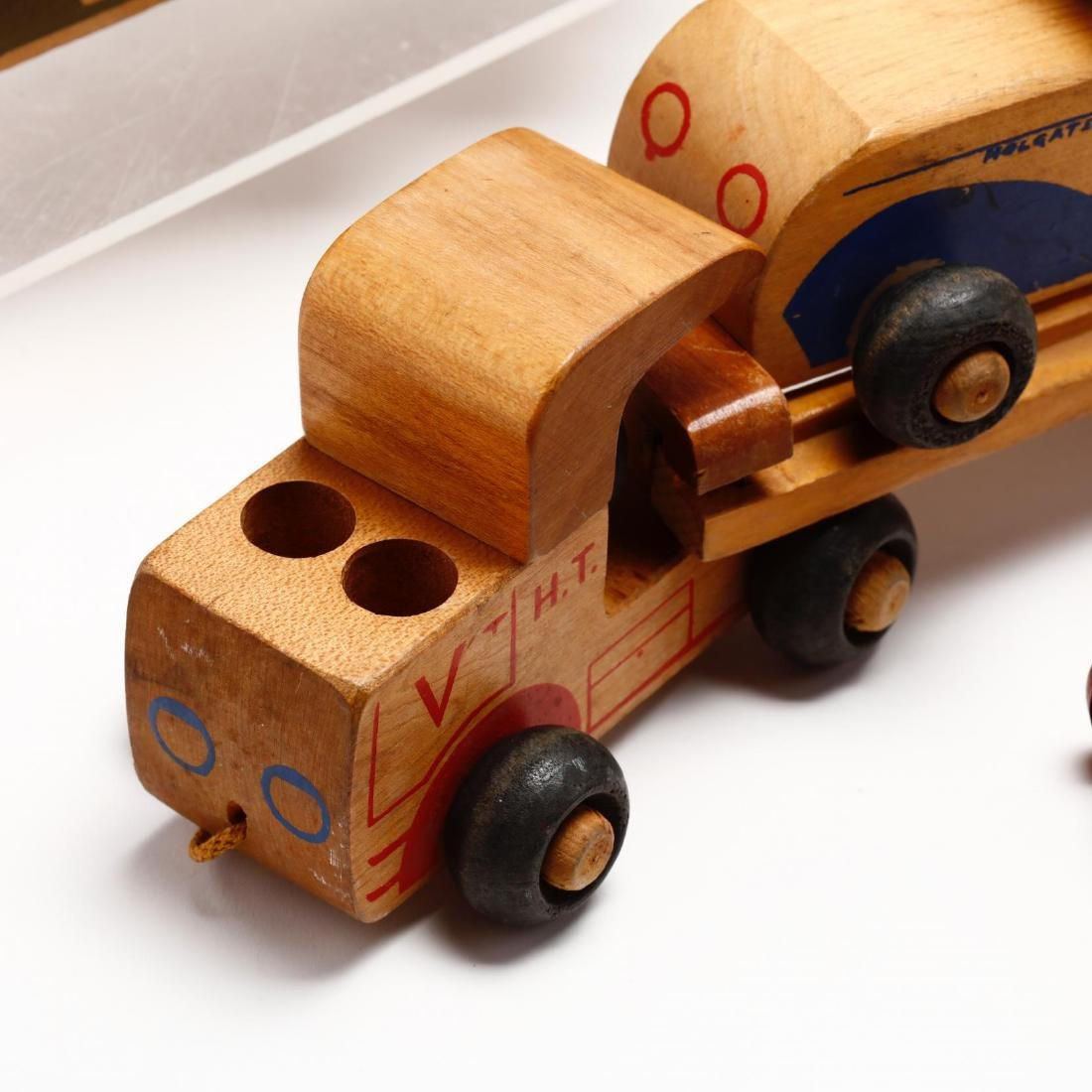 A Group of Vintage Wooden Toys - 4