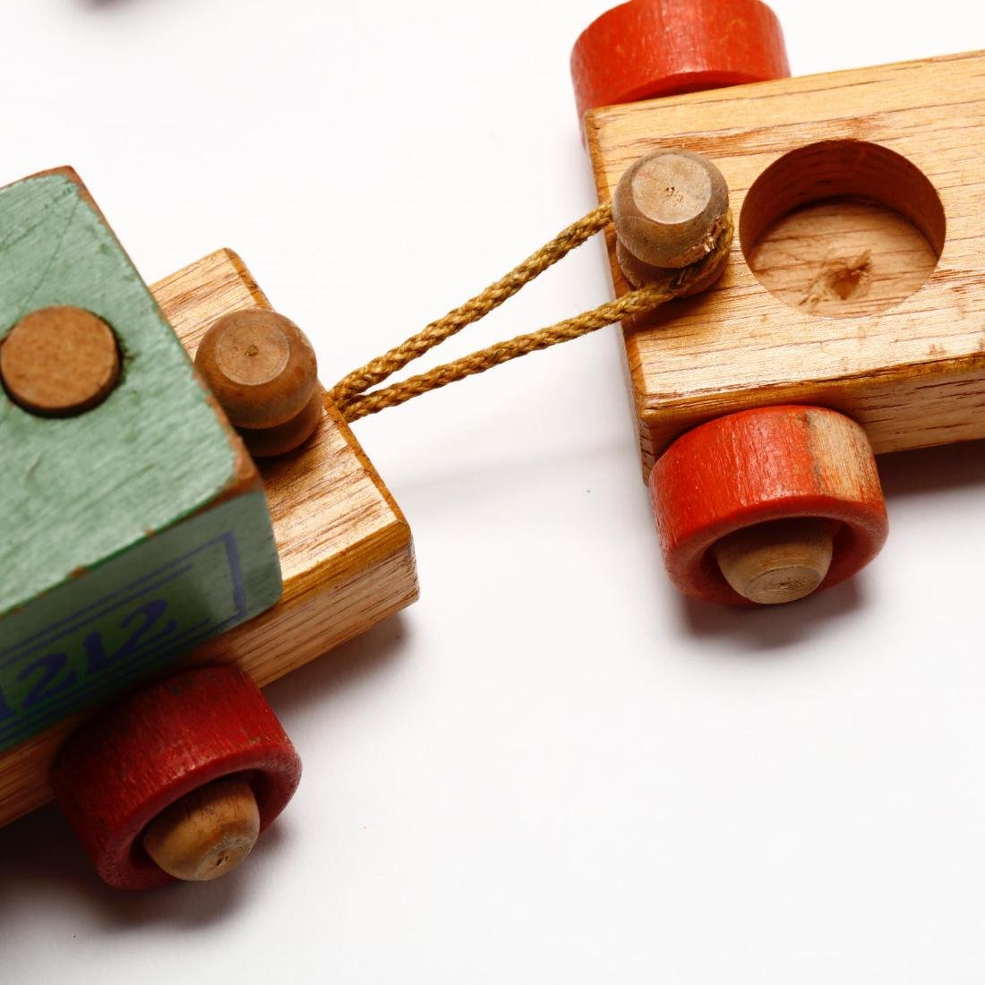 A Group of Vintage Wooden Toys - 5