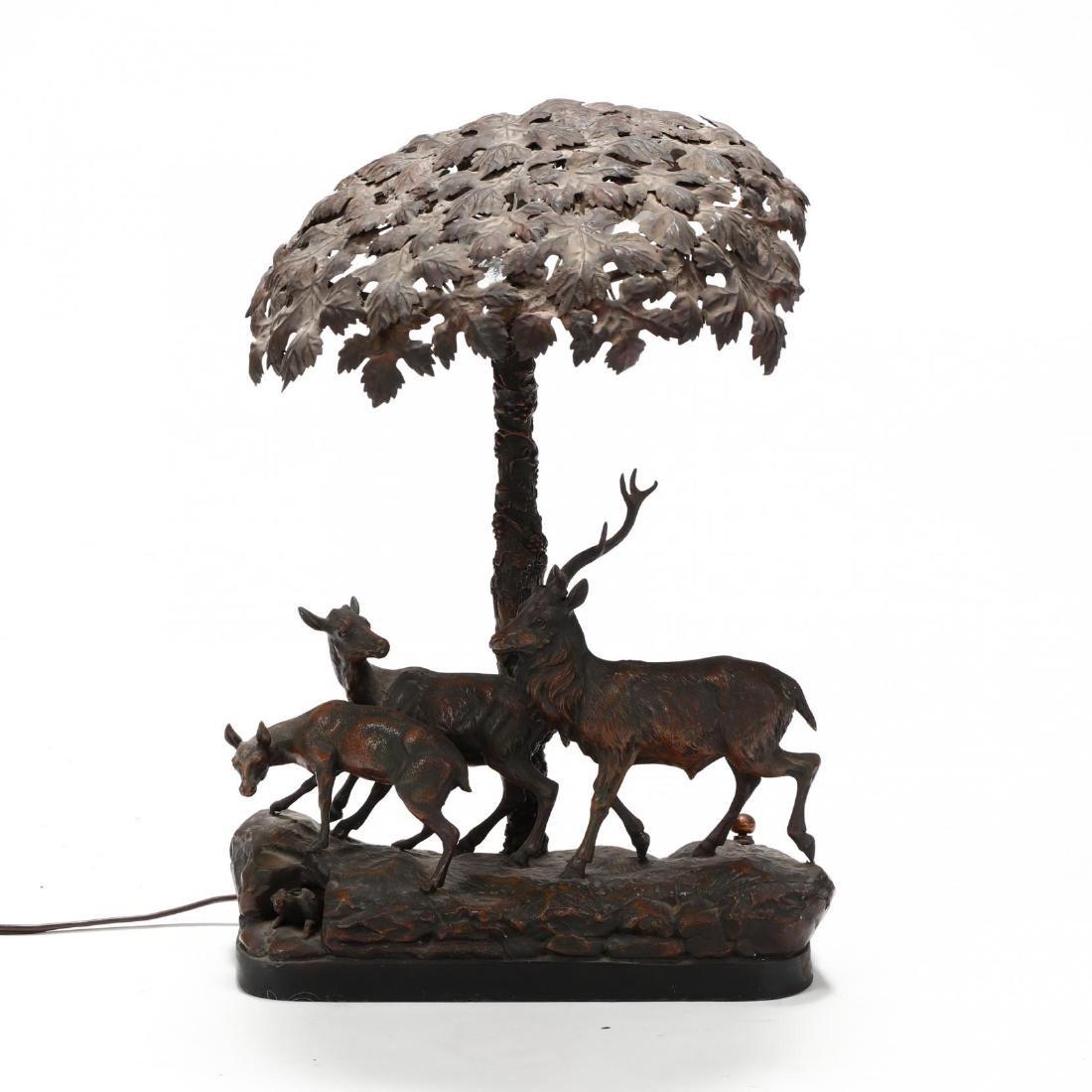 Vintage Sculptural Deer Table Lamp