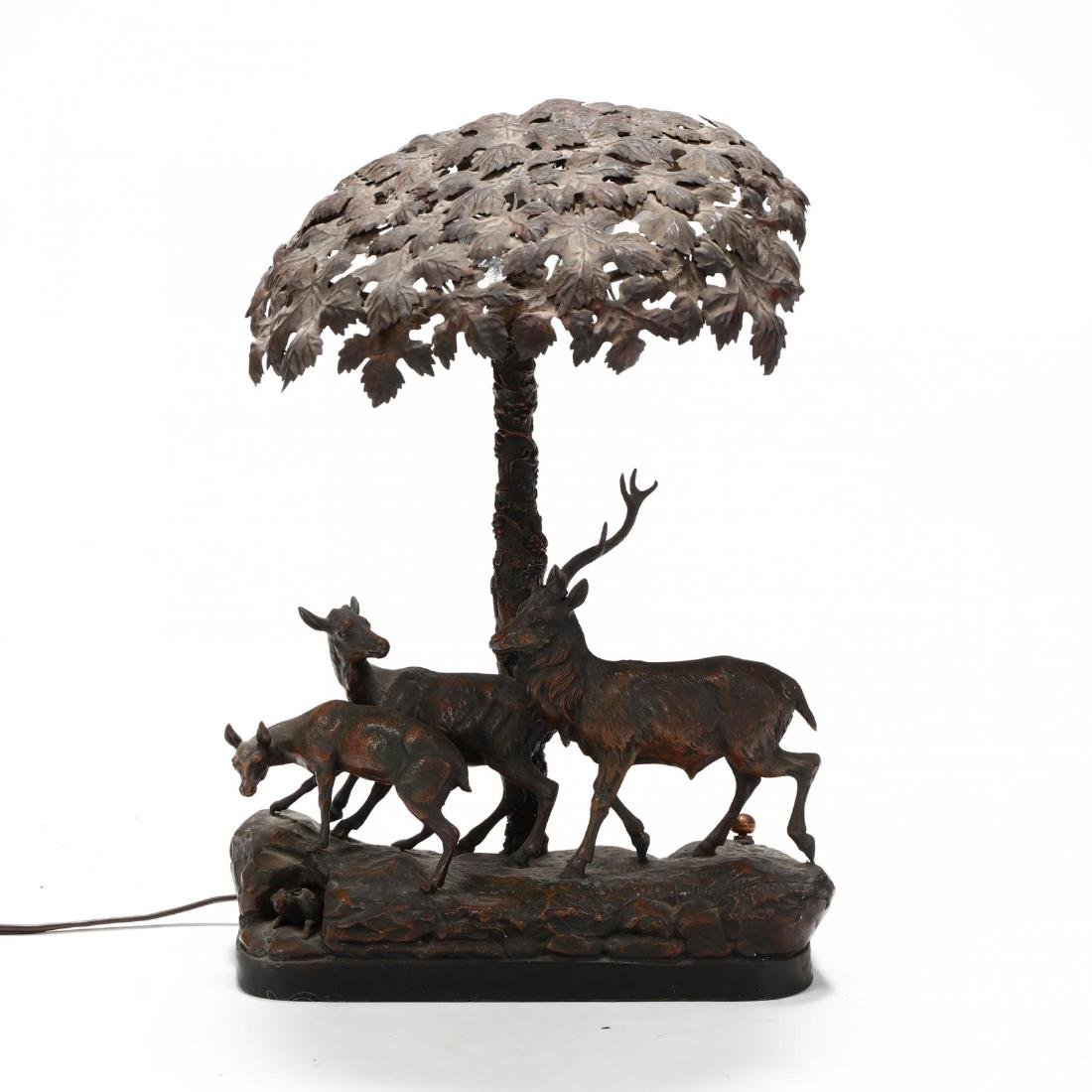 Vintage Sculptural Deer Table Lamp