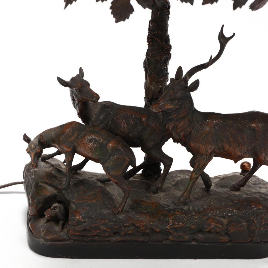 Vintage Sculptural Deer Table Lamp - 2