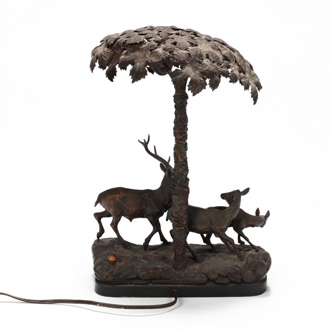 Vintage Sculptural Deer Table Lamp - 4