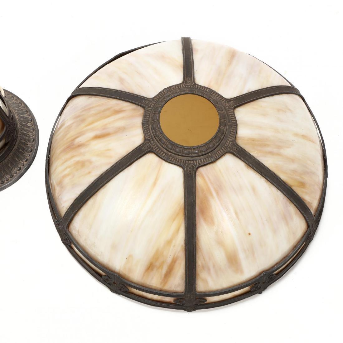 Vintage Slag Glass Table Lamp - 2