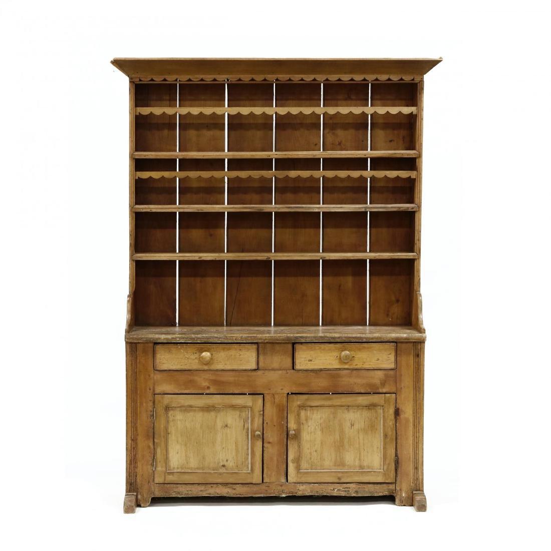 Antique Continental Flatwall Cupboard